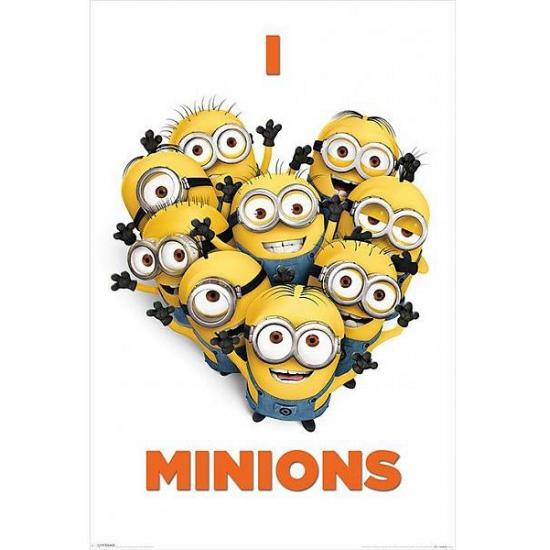 Poster I love Minions 61 x 91,5 cm