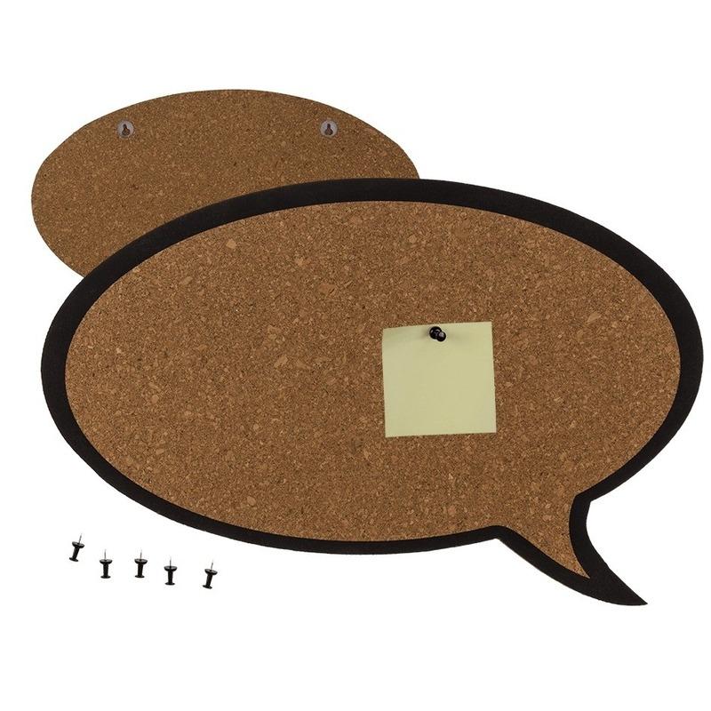 Prikbord in de vorm van een tekst wolkje 44 x 29 cm