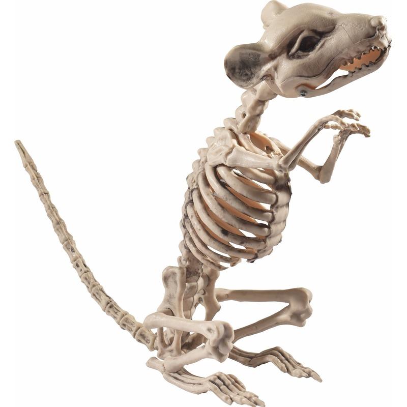 Rat-muis skelet decoratiebeeldje 33 cm