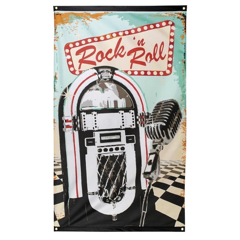 Rock n Roll vlag 90 x 150 cm