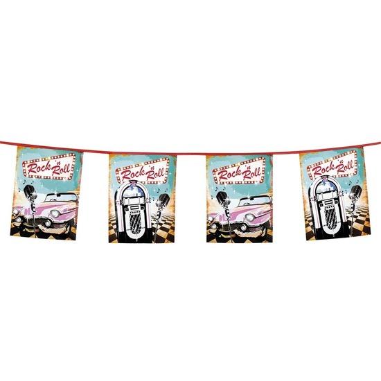 Rock n Roll vlaggenlijn 6 meter