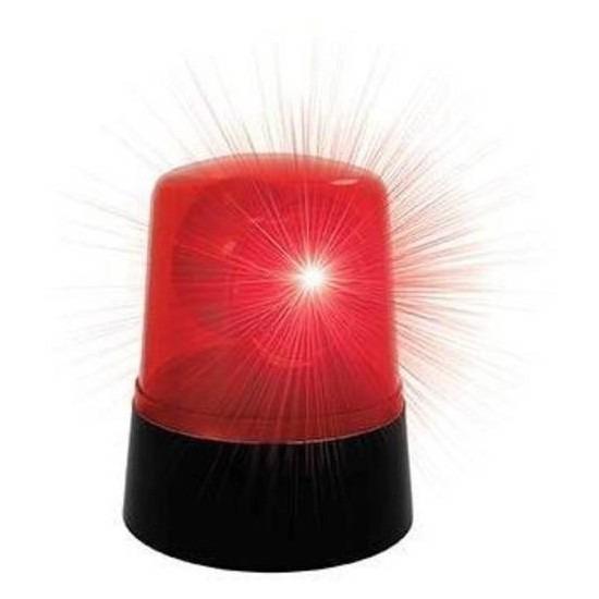 Rode discozwaailicht lamp 9 x11cm