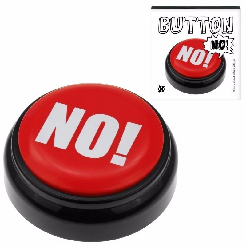 Rode NO buzzer drukknop met geluid