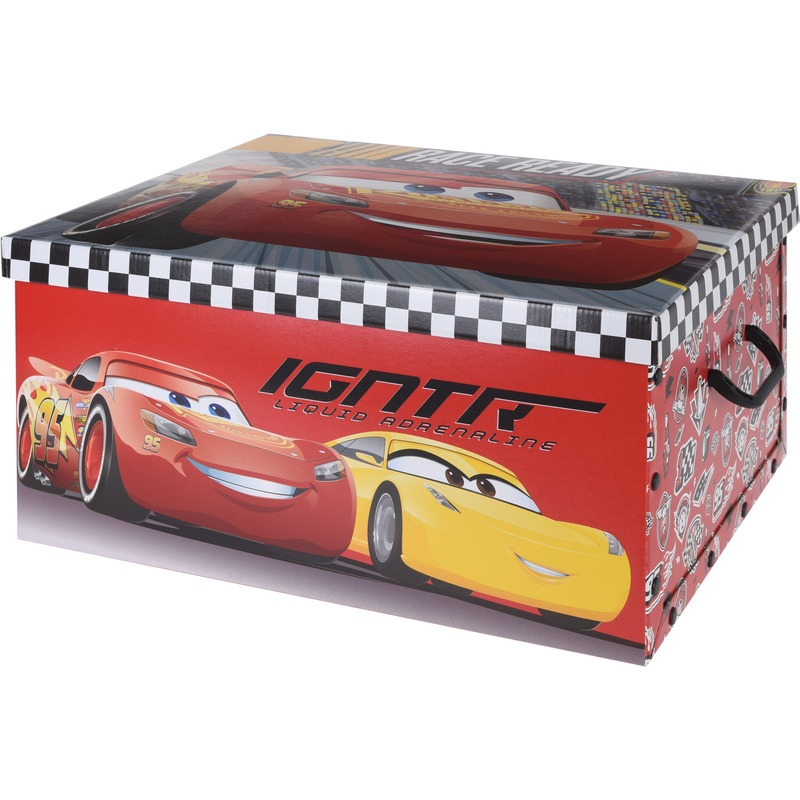 Rode opbergbox-opbergdoos Disney Cars 49 cm