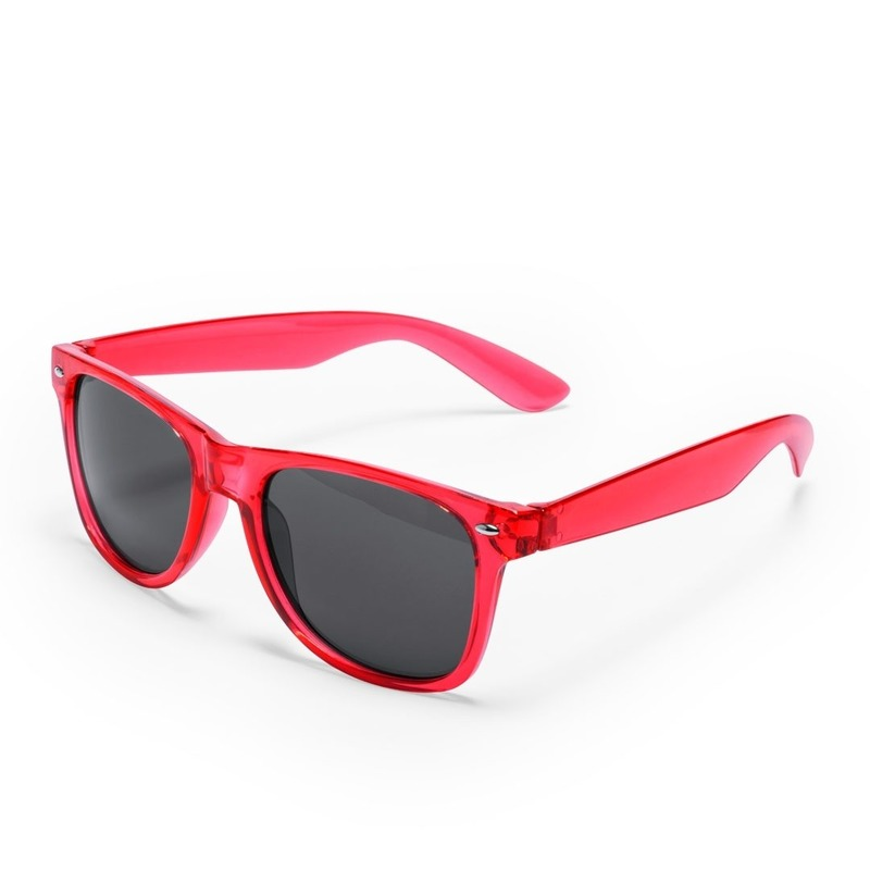 Rode verkleed accessoire zonnebril voor volwassenen