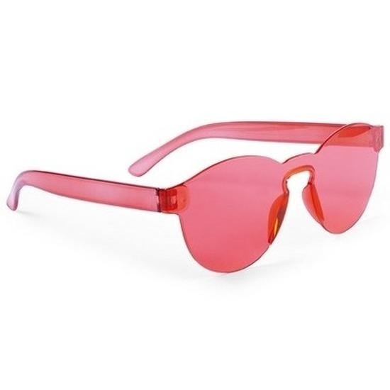 Rode verkleed zonnebril voor volwassenen