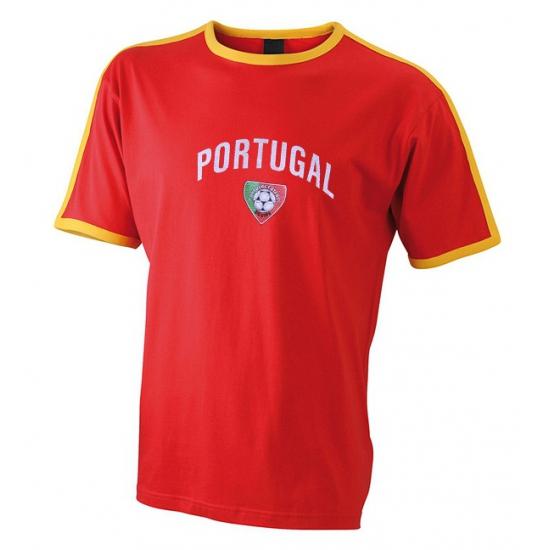 Rood voetbalshirt Portugal heren