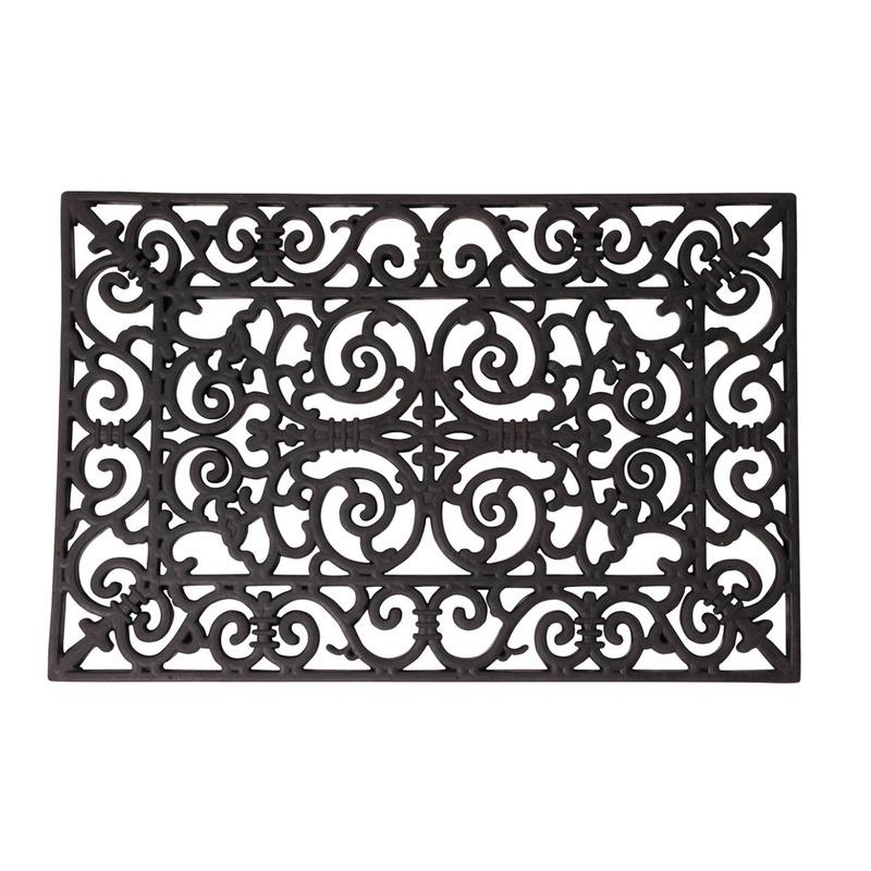 Rubberen deurmat klassiek patroon 60 x 40 cm
