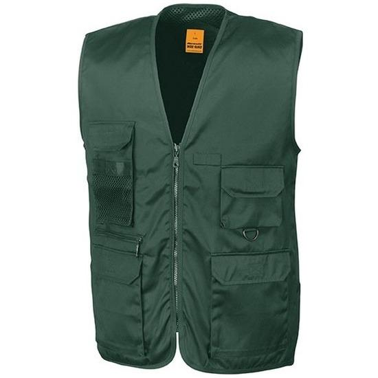 Safari-jungle verkleed bodywarmer-vest groen voor volwassenen