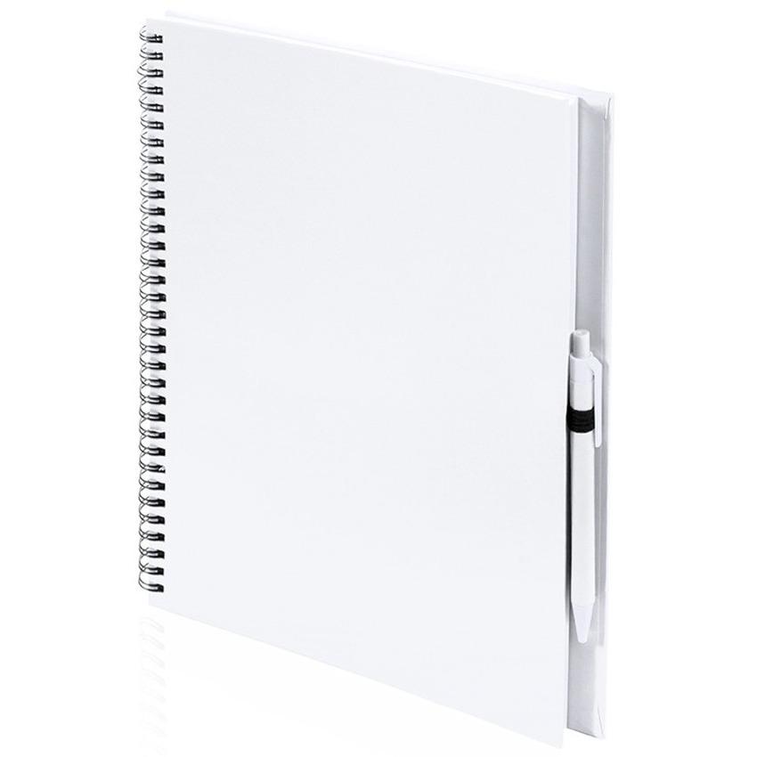 Schetsboek-tekenboek wit A4 formaat 80 vellen inclusief pen