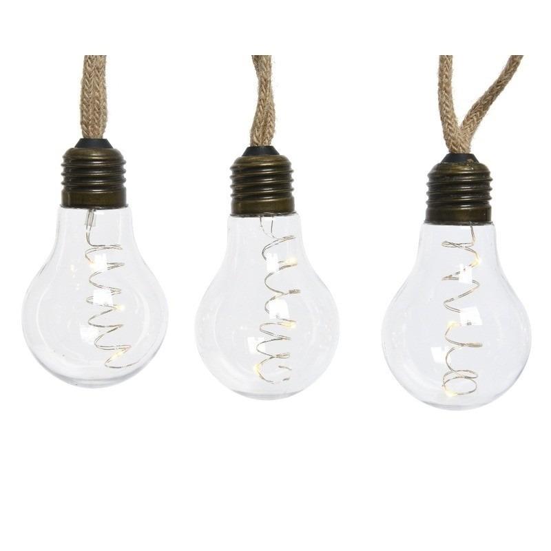 Sfeer verlichting LED peerlampen met decoratieve fitting 270 cm