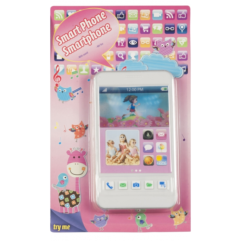 Speelgoed mobiele telefoon wit