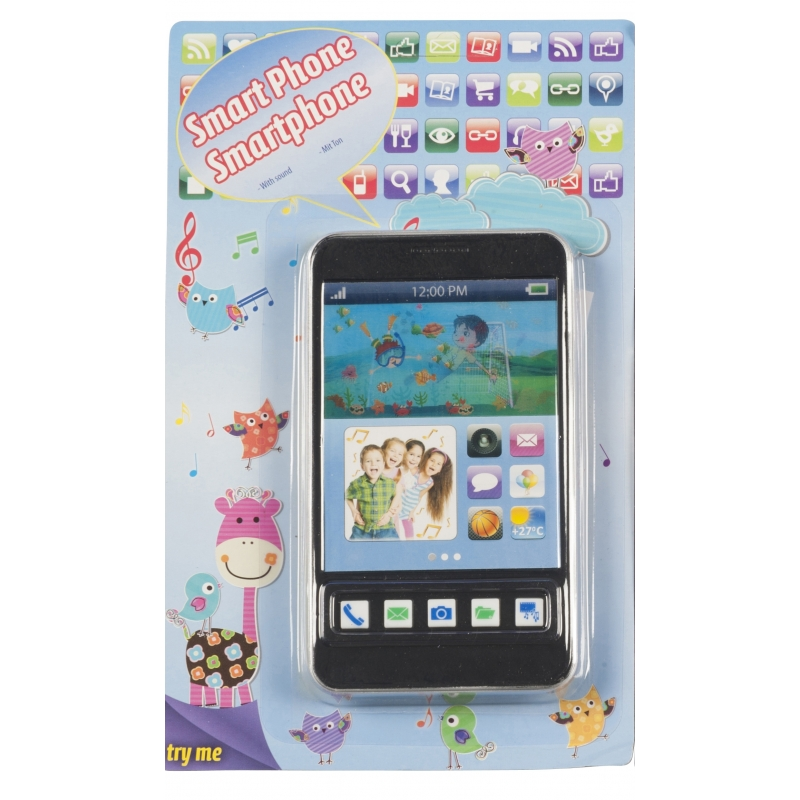 Speelgoed mobiele telefoon zwart