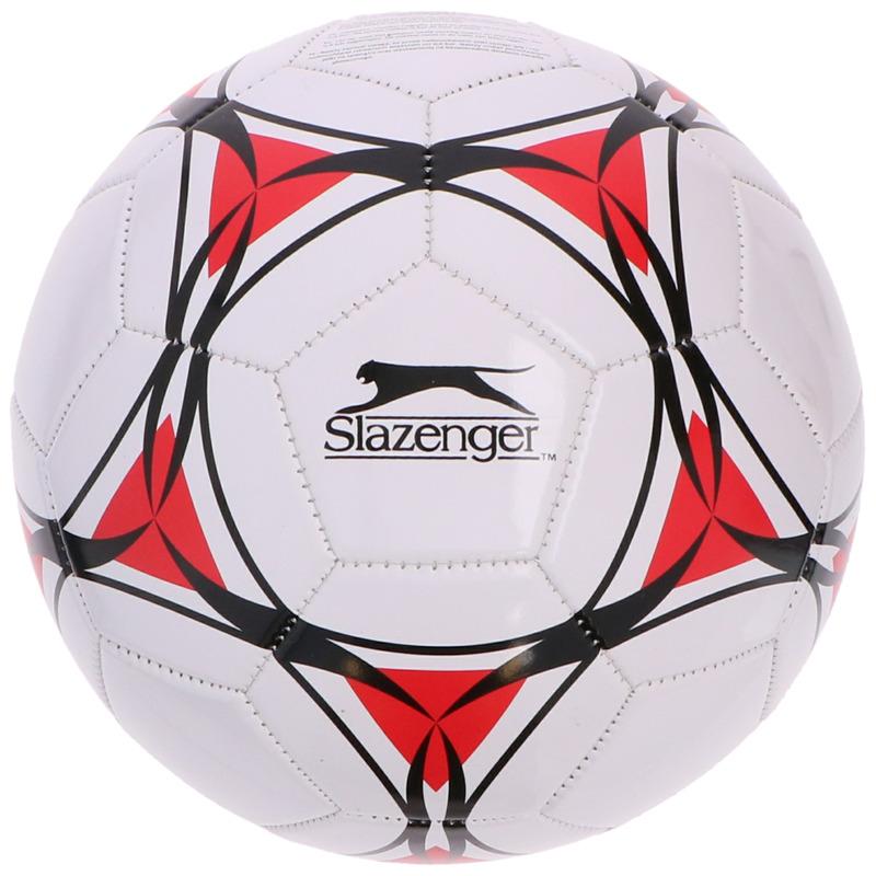 Speelgoed voetbal wit-rood 21 cm voor kinderen-volwassenen
