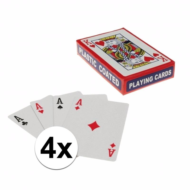 Speelkaarten setjes 4 stuks