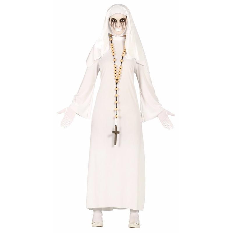 Spookachtige nonnen Halloween kostuum voor dames