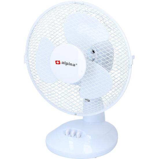 Tafel-bureau ventilator wit 23 cm