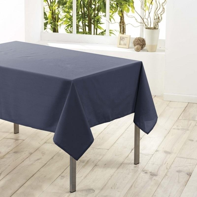Tafelkleed-tafellaken antraciet grijs 140 x 250 cm textiel-stof