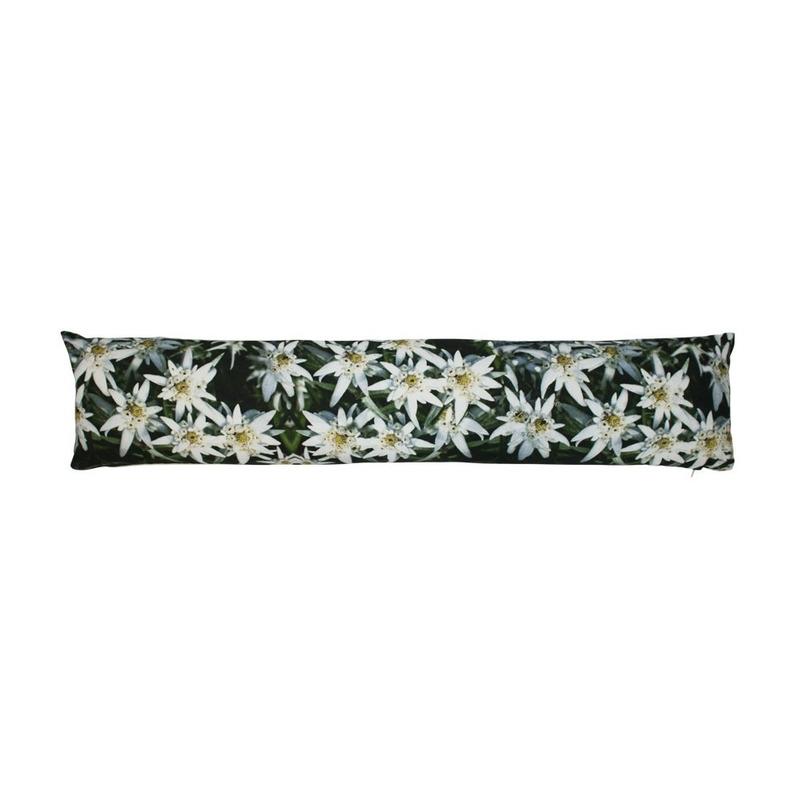 Tochtkussen-tochtstopper edelweiss bloemen print 20 x 90 cm