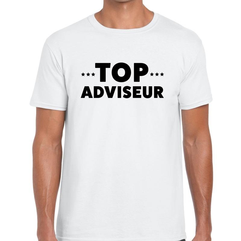 Top adviseur beurs-evenementen t-shirt wit heren