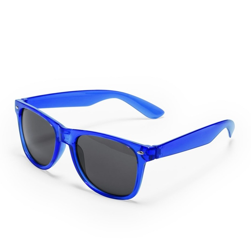 f510f3b4396bd3 Toppers - Blauwe retro model zonnebril voor volwassenen