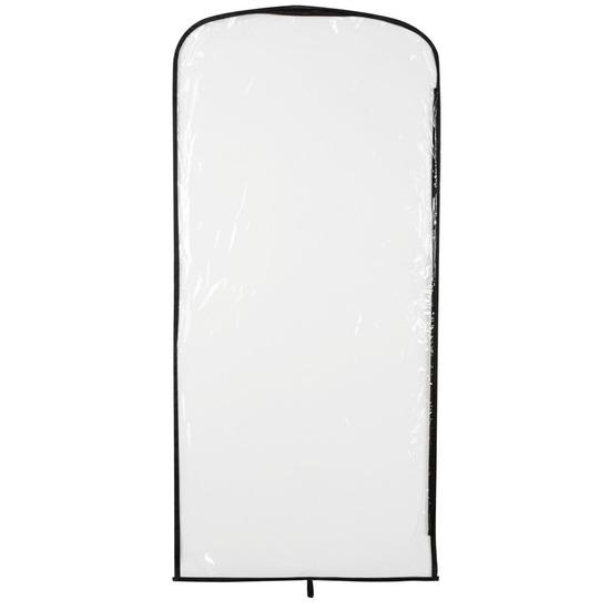 Transparante kledinghoes met rits 95 x 42 cm