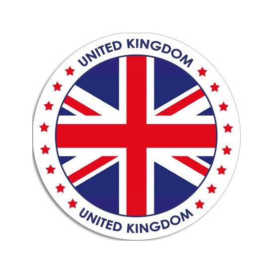 United Kingdom sticker rond 14,8 cm landen decoratie