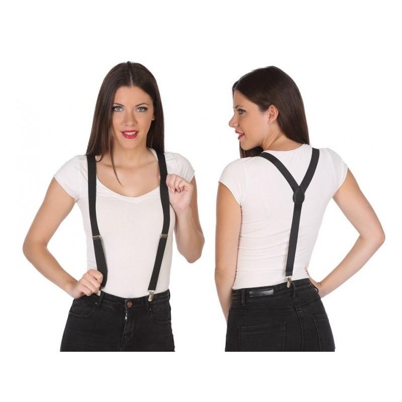 Verkleed bretels zwart voor volwassenen