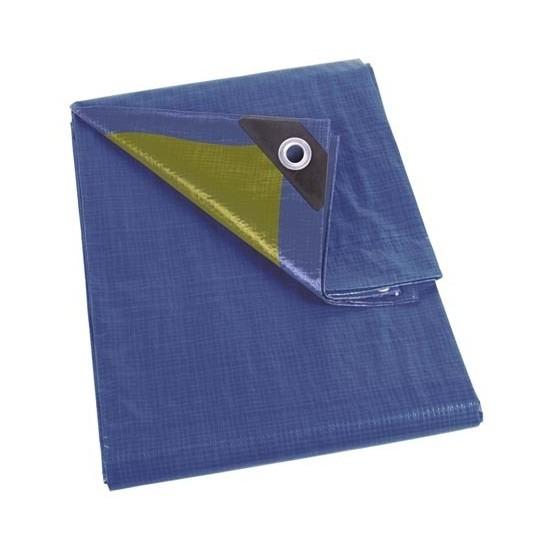 Waterdicht dekzeil-afdekzeil blauw-kaki groen 2 x 3 m