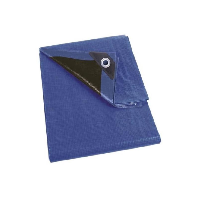 Waterdicht dekzeil-afdekzeil extra sterk blauw-zwart 2 x 3 m