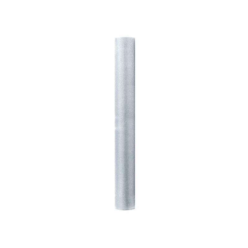 Zilveren glans organza stof 36 cm