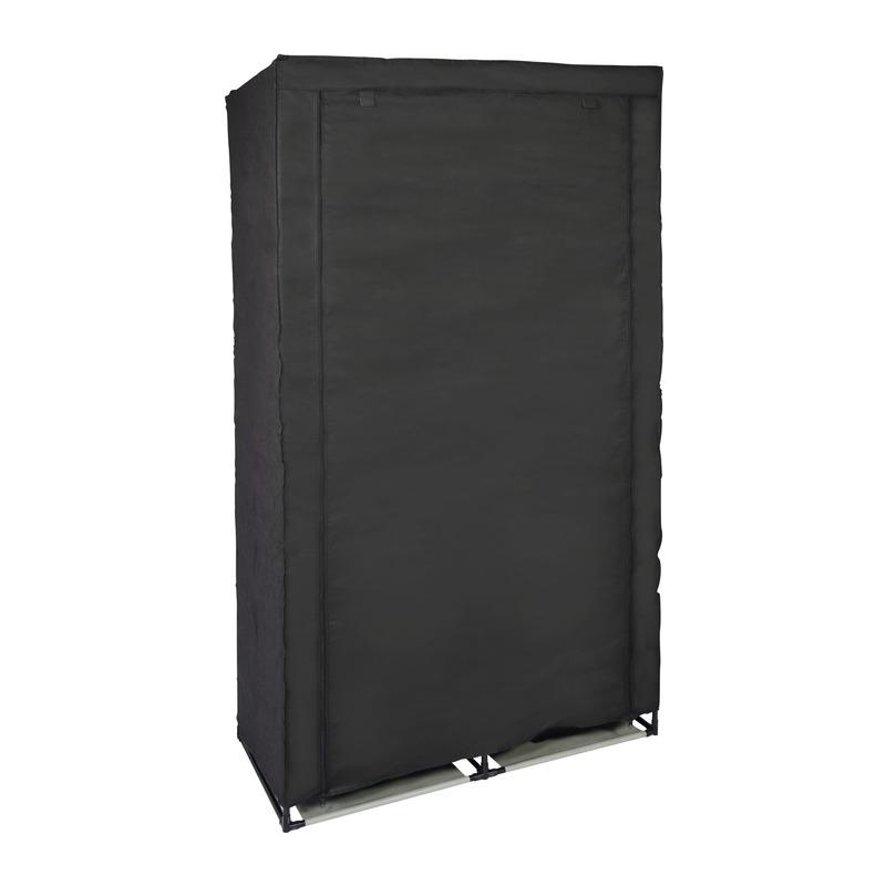 Zolder opberg opvouwbare kledingkast met zwarte hoes 169 x 88 cm