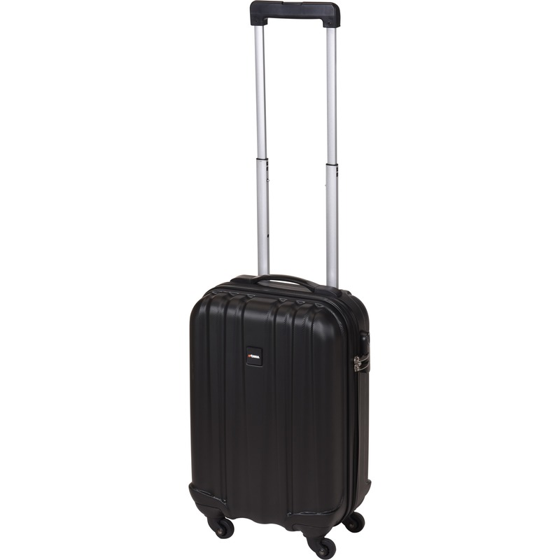 Zwarte handbagage trolley 45 cm