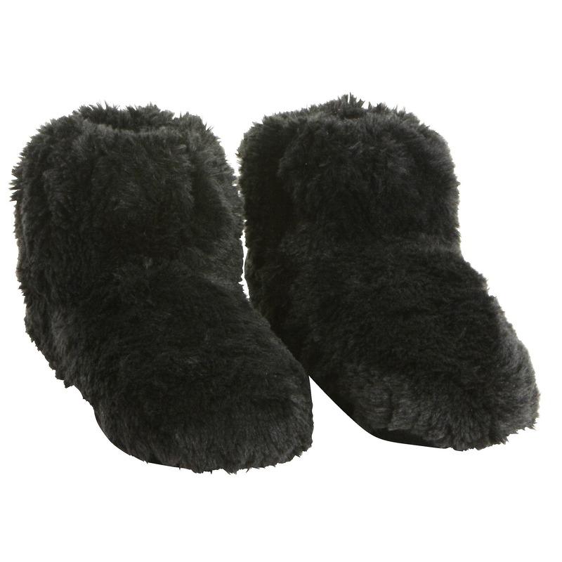Zwarte warmte pantoffels-sloffen voor dames
