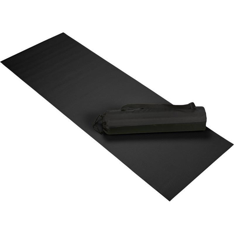 Zwarte yoga-fitness mat 60 x 170 cm