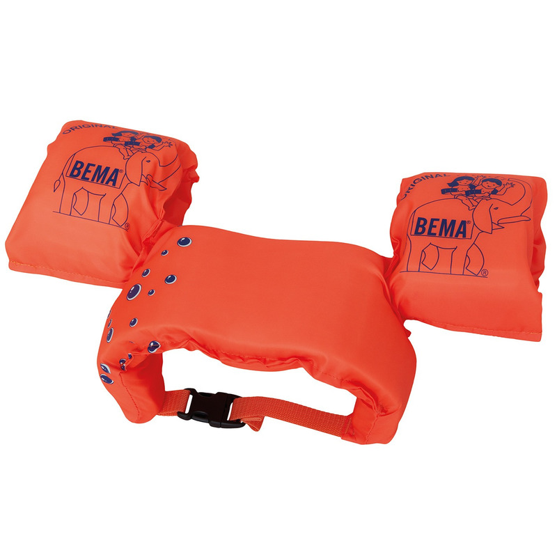 Zwemhulpmiddel 2-in-1 oranje zwemband met zwembandjes 15-30 kilo