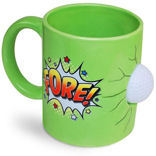 Groene golfers mok Cadeau /kados–gadgets/koffie-thee-mokken/fun-mokken