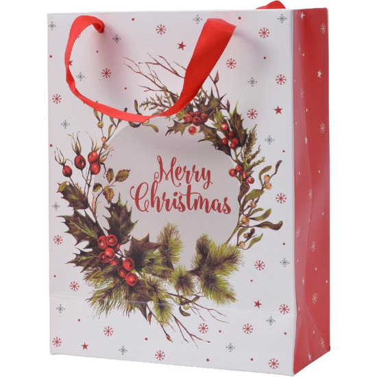 Kerstmis cadeautassen XXL 72 cm kerstkrans