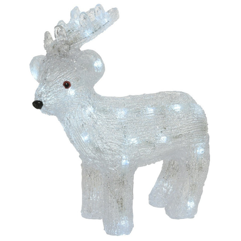 Kerstverlichting LED figuren voor buiten rendier 31 cm