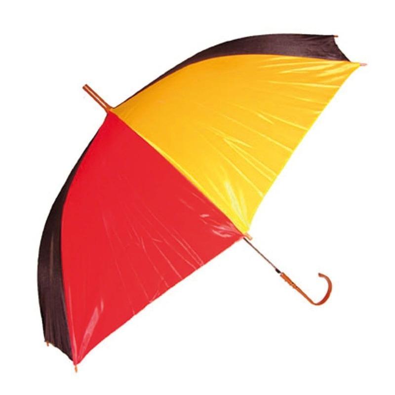 Paraplu rood-geel-zwart