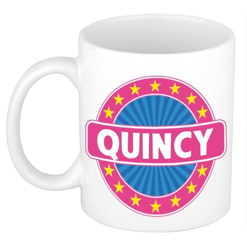 Quincy naam koffie mok-beker 300 ml