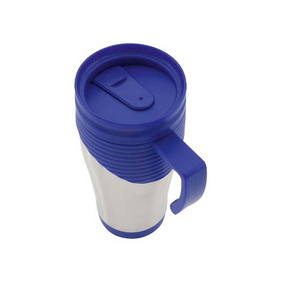 RVS Thermosbeker-warm houd beker blauw 400 ml