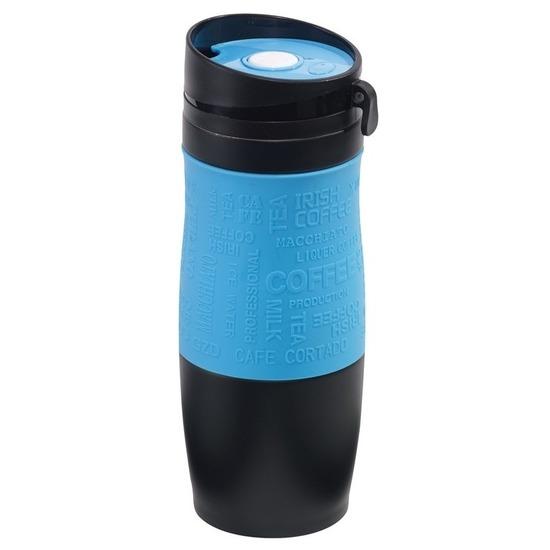 Thermosbeker-warmhoudbeker blauw-zwart 380 ml
