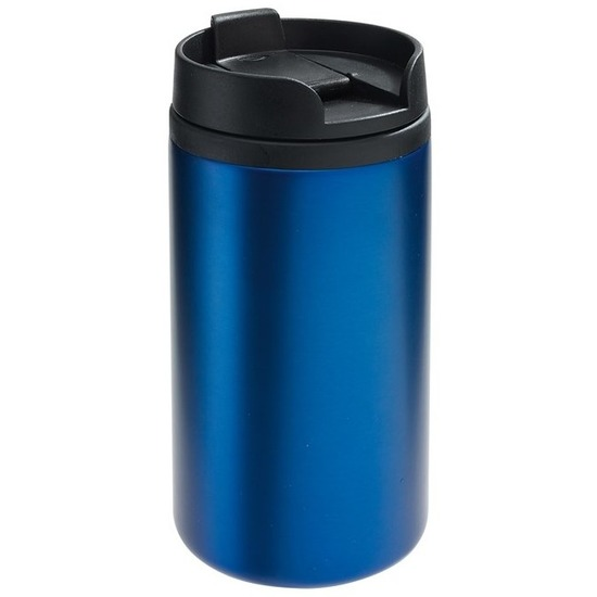 Thermosbeker-warmhoudbeker metallic blauw 290 ml