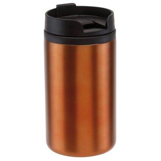 Thermosbeker-warmhoudbeker metallic oranje 290 ml