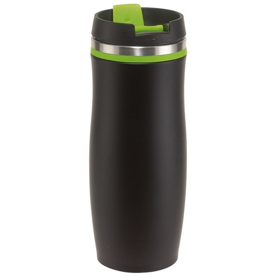 Thermosbeker-warmhoudbeker zwart-groen 400 ml